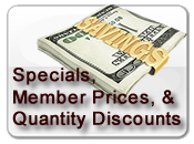 Specials, Member Prices and Quantity Discounts